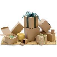 Brown Corrugated Cardboard Flower Packaging Box Virgin Hair Packaging Box