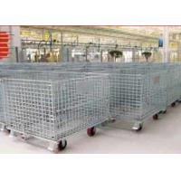China Zinc - coated Wire Mesh Cages ,  Workshop Pallet Metal Front Drop Gate wholesale