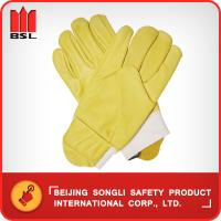 China SLG-CA2016C  Cow grain leather working safety gloves on sale