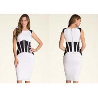 Bodycon Back Zip Closure Classy Cocktail Dress Coated Patchwork