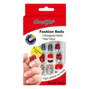 China Sliver safe fake nails / natural looking elegant fake nails For Kids wholesale