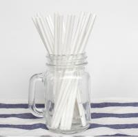 China OEM And ODM Plain Solid White Paper Straws 100PCS Environmental Protection wholesale