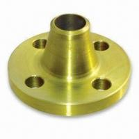China Forged Welding Neck Flange with Standard Marking and Yellow Golden Anti-corrosive Painting wholesale