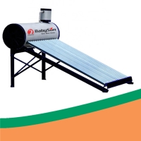 China Galvanized Steel Low Pressure Solar Geyser With Assistant Tank on sale