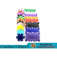 Buy cheap American Custom Made Casino Poker Chips With Dice 3.3mm Thickness from wholesalers