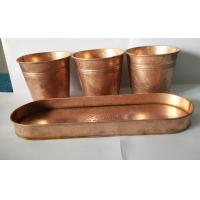 China Copper patina finish metal flower pot planter wholesale