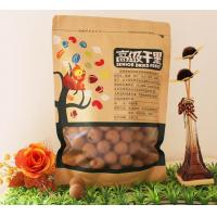 China Flat Bottom Zipper Kraft Paper Food Plastic Bags With Clear Window wholesale