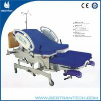 Stainless Steel Adjustable Electric Obstetric Delivery Bed , Folding Foot Rest