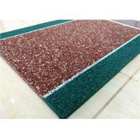 China Non Toxin Playground Rubber Flooring , Recyclable Rubber Pellets For Playground wholesale