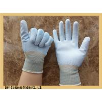 China 13G  Palm & Fingers protectors with pu coated nylon gloves on sale