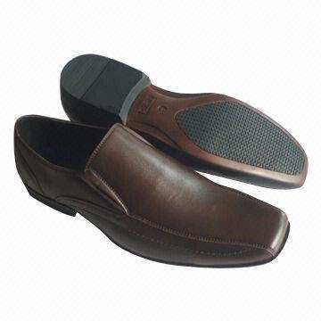 Quality Men's dress shoes with elegant elephant grain upper for sale