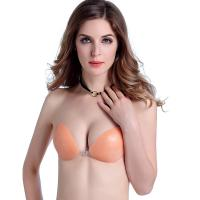 China FC007 Invisible Cleavage Enhancing Bra Silicone push up Bras/silicone bra push up wholesale