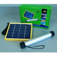 Quality Flashlight LED solar light with 6V*3W Solar Panels and 3.7V/2000mA*2 lithium battery group capacity (4000mA)