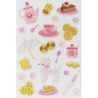 China Customized 3d Puffy Stickers , Funny Tea Time Kids Puffy Stickers PVC + PET wholesale