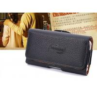 Buy cheap iPhone Clamshell Belt hanging waist leather case Old man phone bag Universal hanging waist leather case from wholesalers