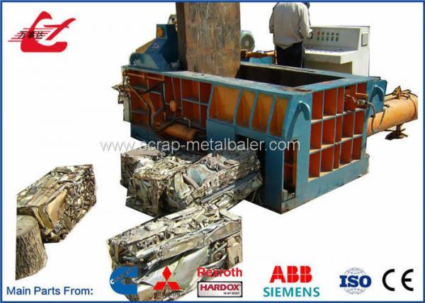 Quality Full Automatic Aluminum Windows Scrap Metal Baler Machine 1500 - 2000KG / H for sale
