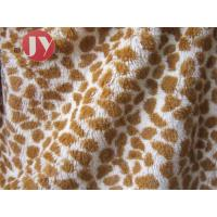 China 100% polyester Giraffe Printed Polyester Plush Fabric , Polyester Plush Fabric Stuffed Animal Soft Toys on sale