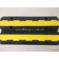 China SGS Molded Rubber Products 1 Channel Heavy Duty Rubber Cable Tray Cable Protector wholesale