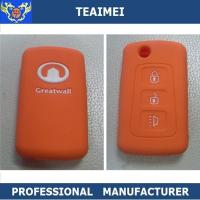 China Great Wall Car Smart Remote Rubber / Silicone Key Fob Cover Orange / Red wholesale
