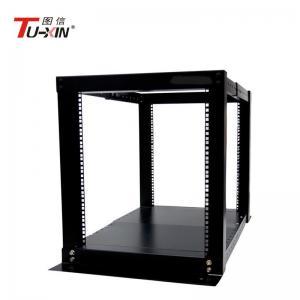 China Adjustable 4 Post Open Frame Server Rack Cabinet 12U IP20 Protection Corrosion Resistance wholesale