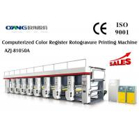 China 1 - 8 Color Zero Tension Control Gravure Printing Machinery Steady Output wholesale