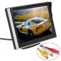 China Silver Color Car Reverse Camera With Lcd Monitor , Rear View Monitor System 30ms Response Time on sale