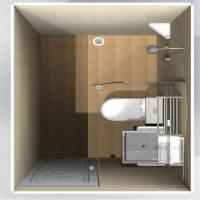 Buy cheap Prefabricated Fiberglass Molded Products Residential Modular Bathroom Pods from wholesalers
