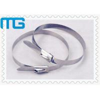 China SS 304 316 Stainless Steel Wire Ties , Nature Color Self Locking Cable Ties wholesale