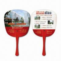 China Hand Fans, Customer's Logos Printings are Available, Made of PP, Suitable for Promotional Purposes wholesale