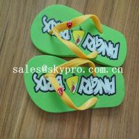 China Summer Flip Flops Customized Sublimation EVA / Rubber Sandals Cool Slippers wholesale