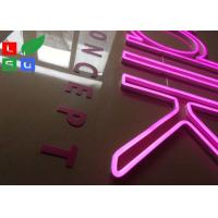 China Hot Pink LED Neon Flex Signage With Clear Backing For Shop Wall Branding wholesale