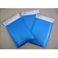 China Customized Printing Metallic Bubble Mailing Envelopes Blue Color For Shipping wholesale