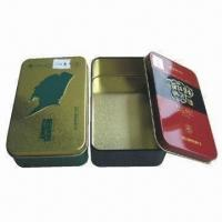 China Tin Boxes, Measures 139x85x41mm, Customized Colors are Accepted wholesale