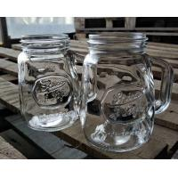 China 350ml Glass Storage Jars / Customized Glass Mason Jars With Lid wholesale
