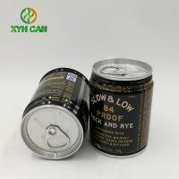 China Promotional Small Tin Can Food Packaging Whiskey Wine Round Tin Box on sale