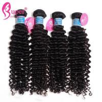 China Deep Curly Brazilian Virgin Hair Extensions 100g per bundle Weight Natural Black wholesale