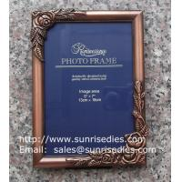 China Metal rose picture frames in stock, emboss rose metal photo frames wholesaler in China on sale
