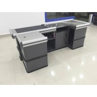 China Gray Conveyor Belt Checkout Counter for Supermarket Shop Automatic Retail wholesale