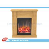 China Solid Wood Veneer MDF Home Decor Fireplaces With Paint Finished / 905mm * 255mm * 970mm wholesale