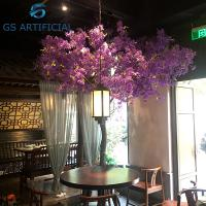 China Artificial Cherry Blossom Cross Flower Tree Living Room Plant Anti - UV on sale