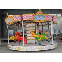 China Colorful Led Lights Merry Go Around , Health Paint Small Carousel Horse wholesale