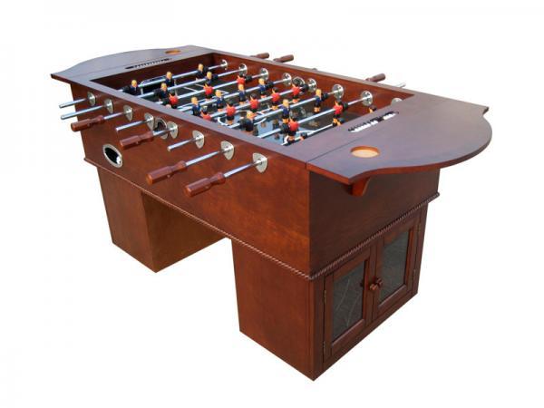 Quality Acier en bois Rods de premier ministre Foosball Table With Solid de Tableau de jeu de football de placage for sale