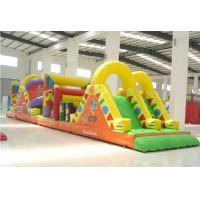 China Blast Zone Pirate ' S Bay Inflatable Amusement Park , Inflatable Obstacle Course wholesale