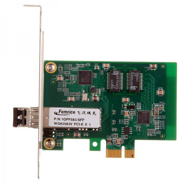 Quality 1000Mbps Gigabit Ethernet Desktop Computer Network Adapter 1G PCIex1 Fiber Optic Network Interface Cards for sale