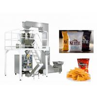 China Puffed Food / Potato Chips Snacks Packaging Machine PLC + Screen Control System wholesale