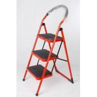 3 step ladder tools heavy duty folding home shop super market  domestic matel steel red colour