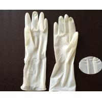 China Polymer Coating Sterile Latex Surgical Gloves  / Long Arm Latex Gloves wholesale