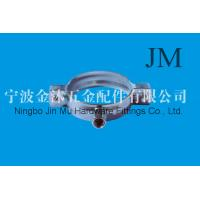 China Standard Pipe Fitting Clamps With M6 x 25 Locking Screw Size 72 mm - 76 mm Diameter wholesale