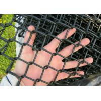 China Garden Chain Link Fencing Mesh 2 '' Wire 4 . 0 MM Black  Color 10 ' Height on sale