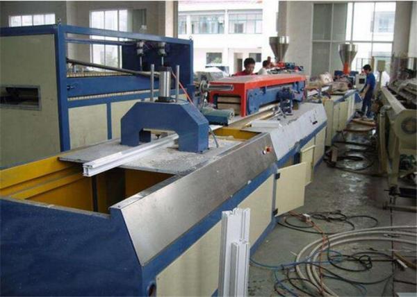 Quality Double Screw Wood Plastic WPC Profile Extruder Machine , PVC Profile Extrusion Line for sale